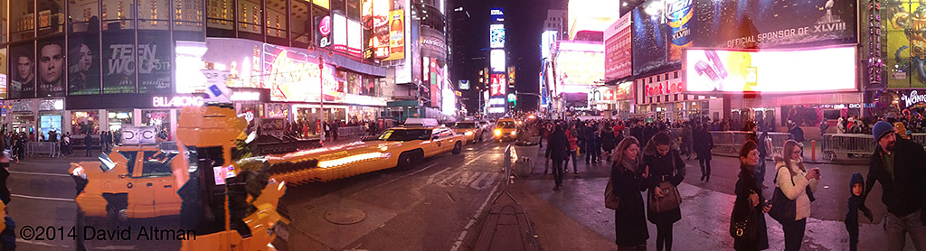 Times Square, NYC looking north on New Years Day 2014