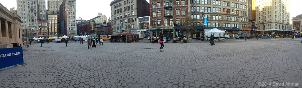 Photograph of the Farmers Market at Union Square, Manhattan, NYC.